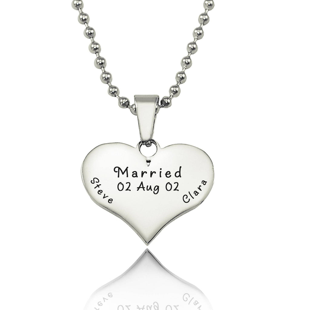 Love of My Life Necklace-Silver- BELLE FEVER Personalised Jewellery
