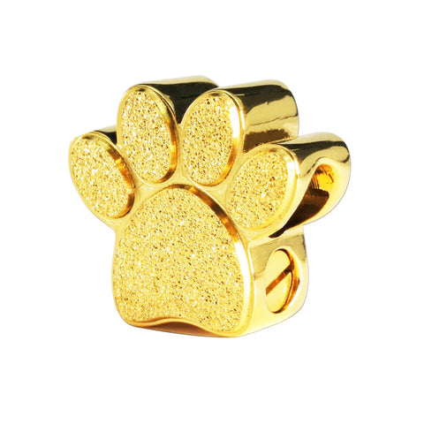 Memory Paw Canister Charm For Moments Bracelet-Gold- BELLE FEVER Personalised Jewellery