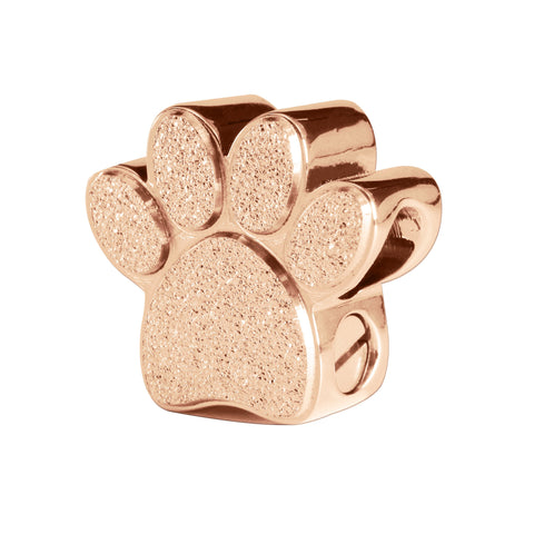 Memory Paw Canister Charm For Moments Bracelet-Rose Gold- BELLE FEVER Personalised Jewellery