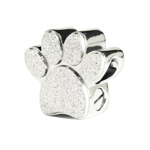 Memory Paw Canister Charm For Moments Bracelet-Silver- BELLE FEVER Personalised Jewellery