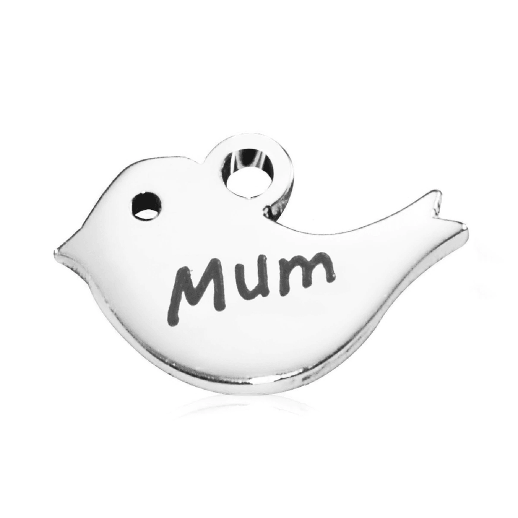 Mother Bird Charm For Dream Locket-Silver- BELLE FEVER Personalised Jewellery