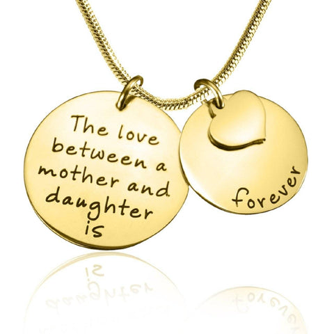 Mother Forever Necklace-Gold- BELLE FEVER Personalised Jewellery
