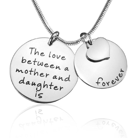 Mother Forever Necklace-Silver- BELLE FEVER Personalised Jewellery