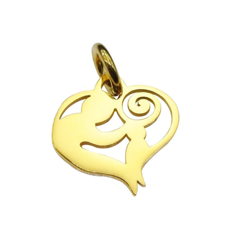 Mothers Love Charm for Keyring-Gold- BELLE FEVER Personalised Jewellery