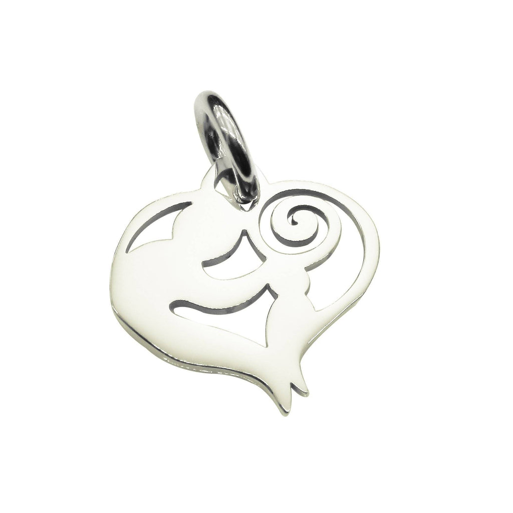 Mothers Love Charm for Keyring-Silver- BELLE FEVER Personalised Jewellery
