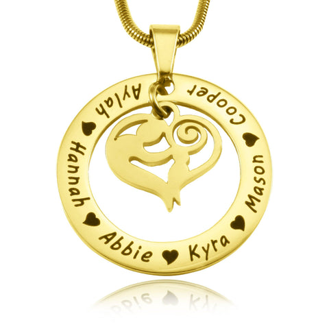 Mothers Love Necklace-Gold- BELLE FEVER Personalised Jewellery
