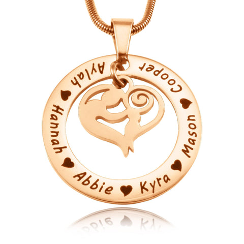 Mothers Love Necklace-Rose Gold- BELLE FEVER Personalised Jewellery