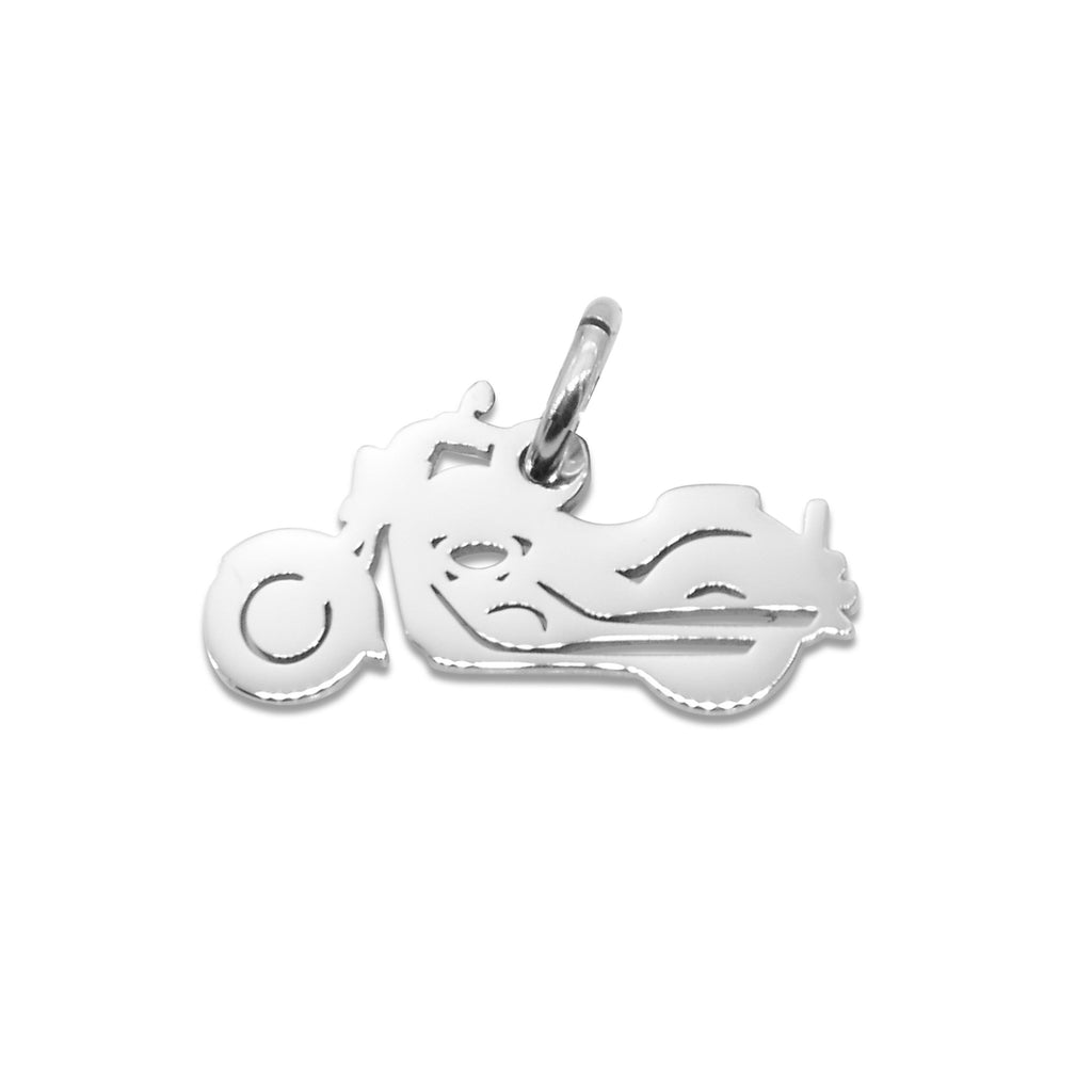 Motorbike Charm for Keyring-Silver- BELLE FEVER Personalised Jewellery