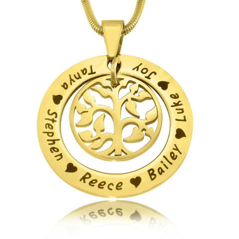 My Family Tree Necklace-Gold- BELLE FEVER Personalised Jewellery