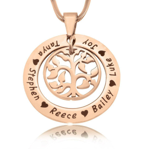 My Family Tree Necklace-Rose Gold- BELLE FEVER Personalised Jewellery