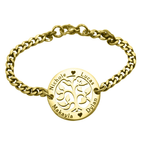 My Tree Bracelet-Gold- BELLE FEVER Personalised Jewellery