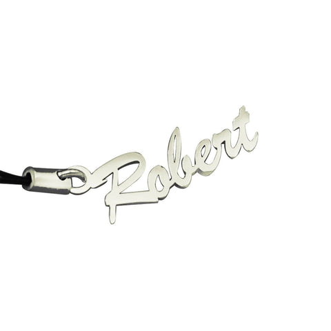 Name Charm (Birthstones Optional)-Silver- BELLE FEVER Personalised Jewellery