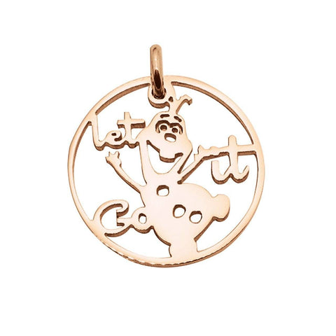 Olaf Charm for Keyring-Rose Gold- BELLE FEVER Personalised Jewellery