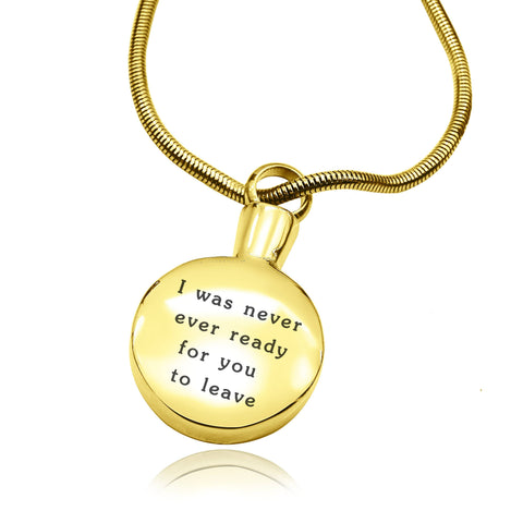Personalised Circle Canister Necklace-Gold- BELLE FEVER Personalised Jewellery