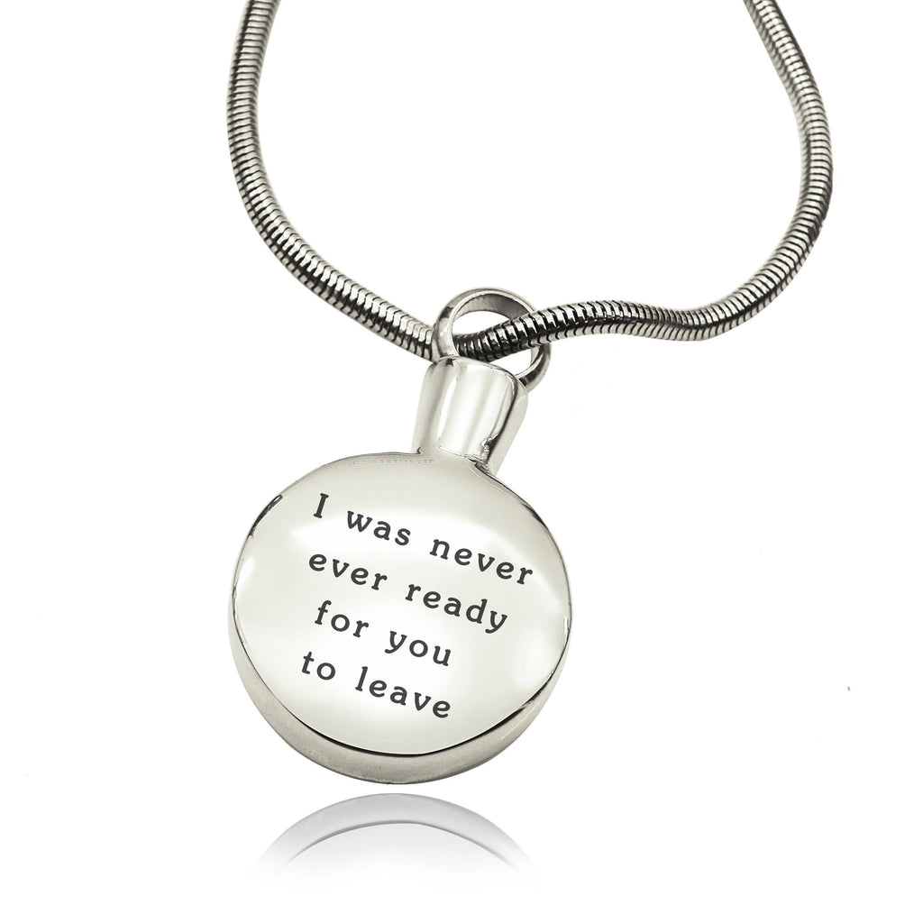 Personalised Circle Canister Necklace-Silver- BELLE FEVER Personalised Jewellery