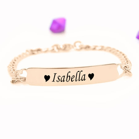 Personalised Heart Bracelet-Silver- BELLE FEVER Personalised Jewellery