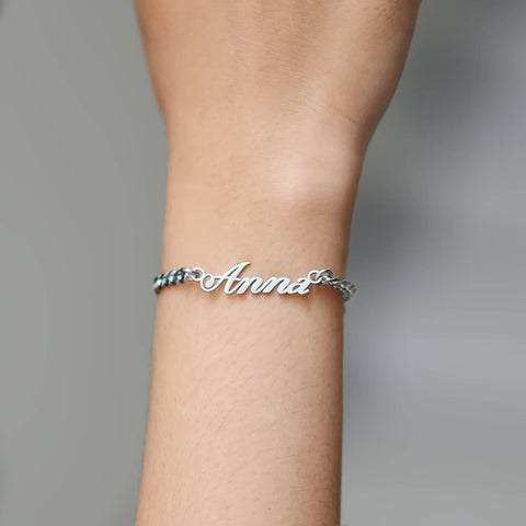 Personalised Love Bracelet-Silver- BELLE FEVER Personalised Jewellery