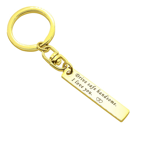 Reminder Tag Keyring-Gold- BELLE FEVER Personalised Jewellery