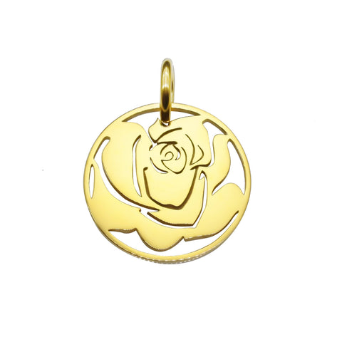Rose Charm for Keyring-Gold- BELLE FEVER Personalised Jewellery