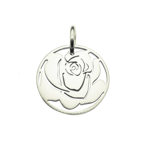 Rose Charm for Keyring-Silver- BELLE FEVER Personalised Jewellery