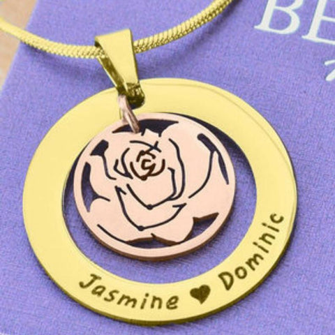 Rose Family Necklace-Silver- BELLE FEVER Personalised Jewellery