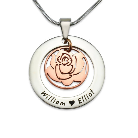 Rose Family Necklace-Two Tone Rose Gold- BELLE FEVER Personalised Jewellery