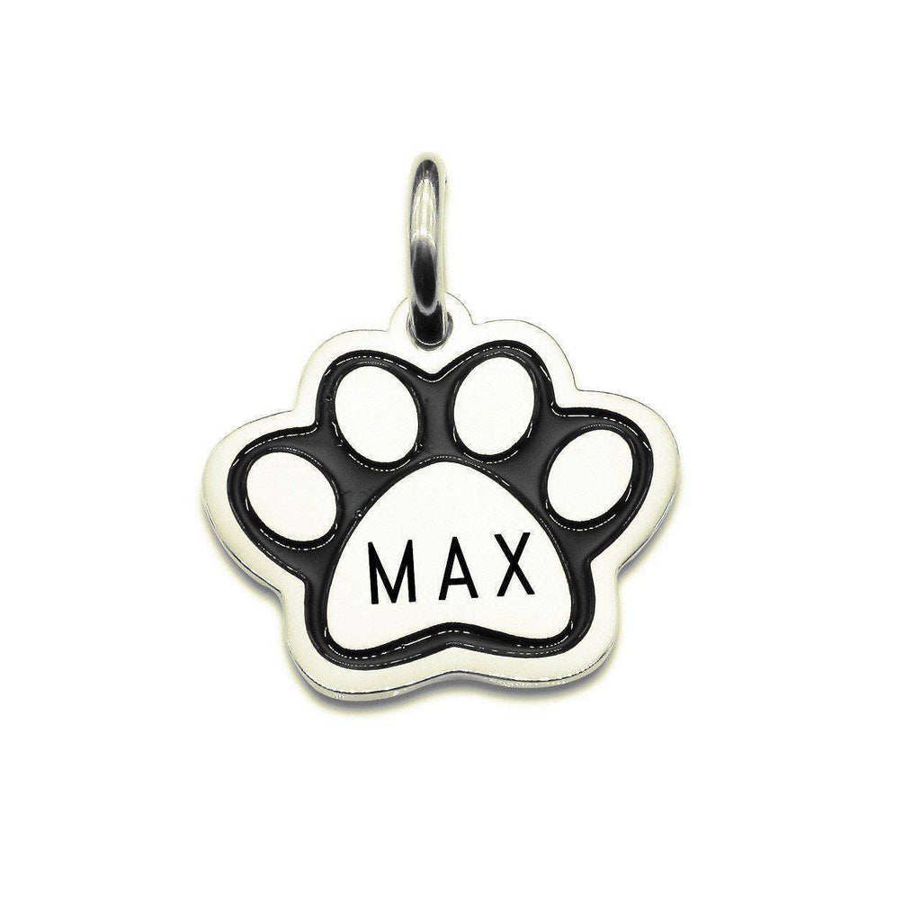 Single Paw Print Charm for Keyring-Silver- BELLE FEVER Personalised Jewellery