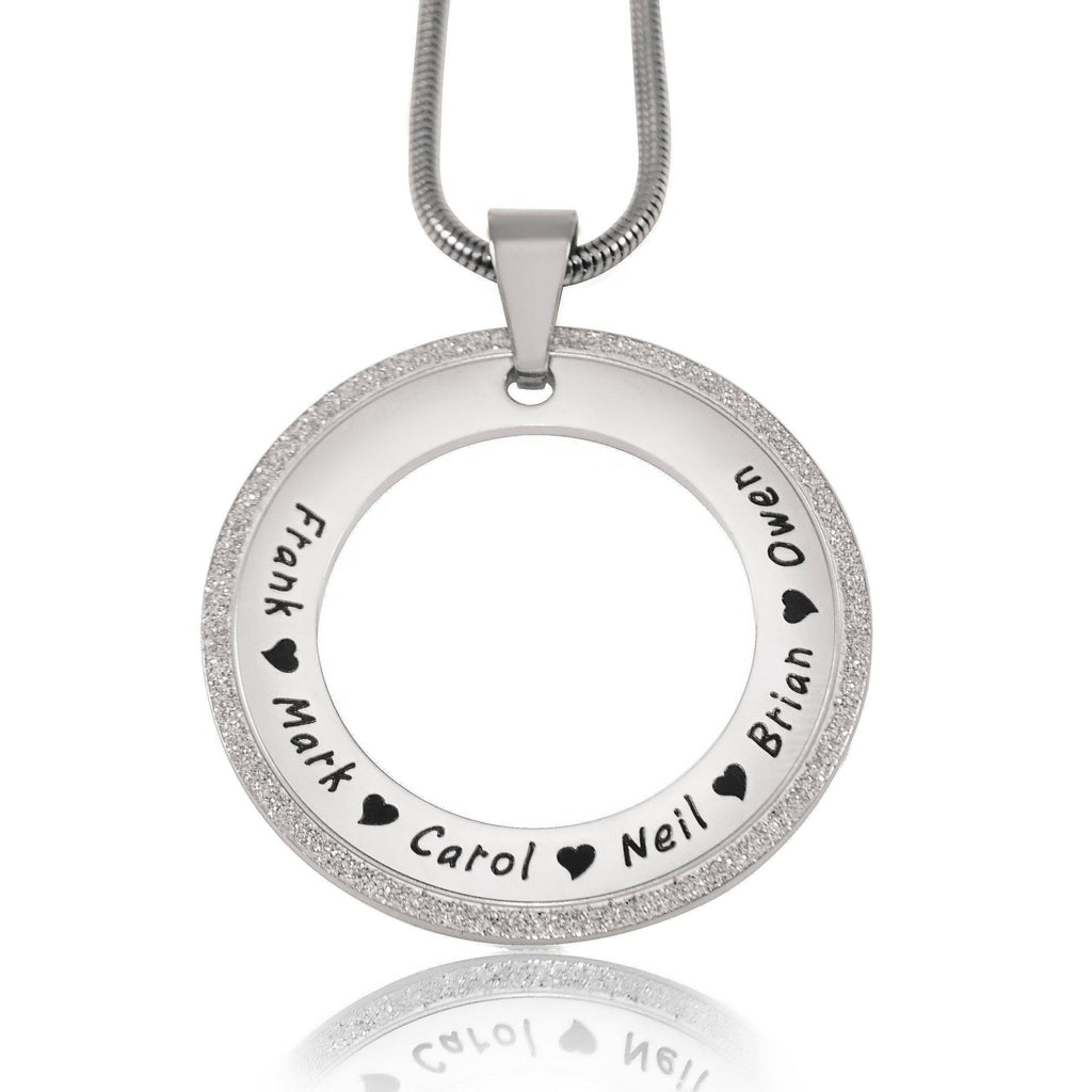 Sparkling Circle of Trust Necklace-Silver- BELLE FEVER Personalised Jewellery