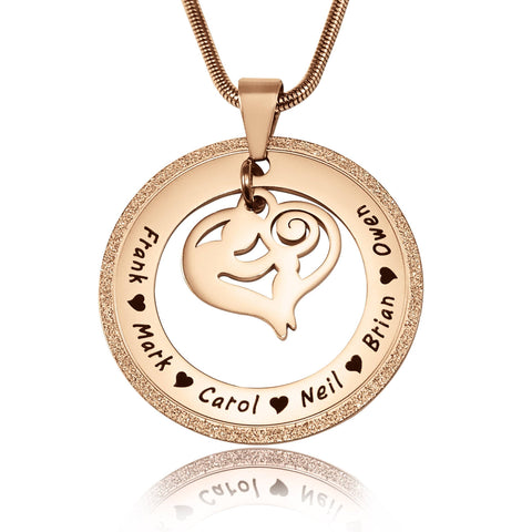 Sparkling Mothers Love Necklace-Rose Gold- BELLE FEVER Personalised Jewellery