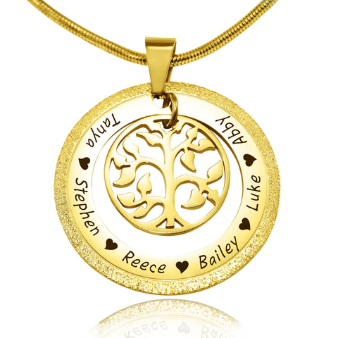 Sparkling My Family Tree Necklace-Gold- BELLE FEVER Personalised Jewellery