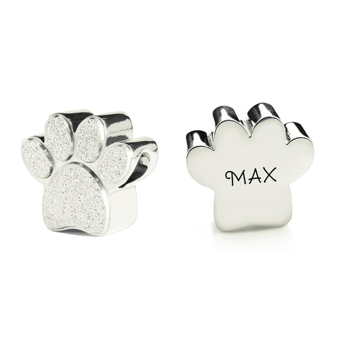 Sparkling Paw Charm for Moments Bracelet-Silver- BELLE FEVER Personalised Jewellery