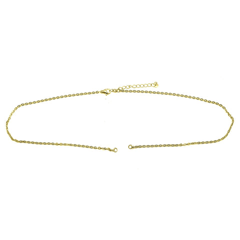 Split Link Chain-35+5cm-Gold- BELLE FEVER Personalised Jewellery