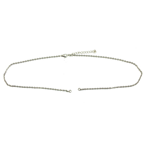 Split Link Chain-35+5cm-Silver- BELLE FEVER Personalised Jewellery