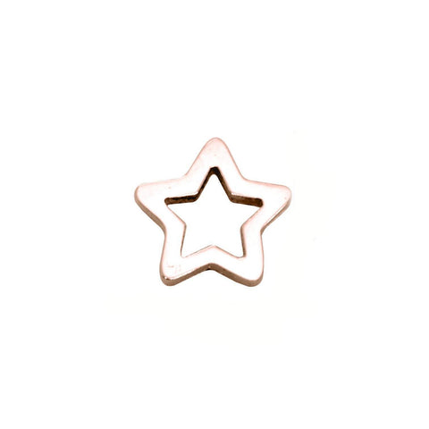 Star Charm for Dream Locket-Rose Gold- BELLE FEVER Personalised Jewellery