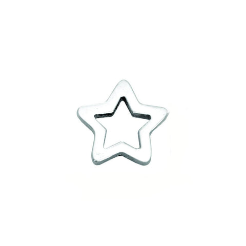 Star Charm for Dream Locket-Silver- BELLE FEVER Personalised Jewellery