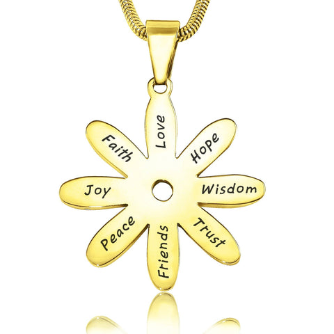 Sunflower Necklace-Gold- BELLE FEVER Personalised Jewellery