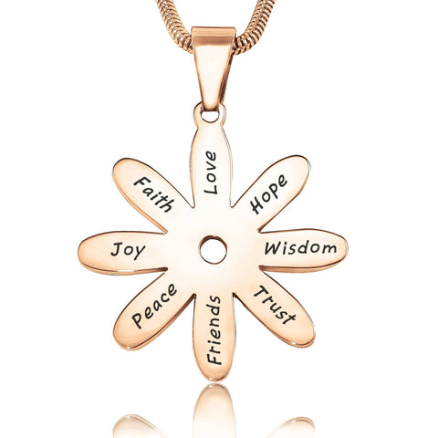 Sunflower Necklace-Rose Gold- BELLE FEVER Personalised Jewellery