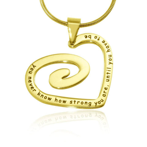 Swirls of My Heart Necklace-Gold- BELLE FEVER Personalised Jewellery