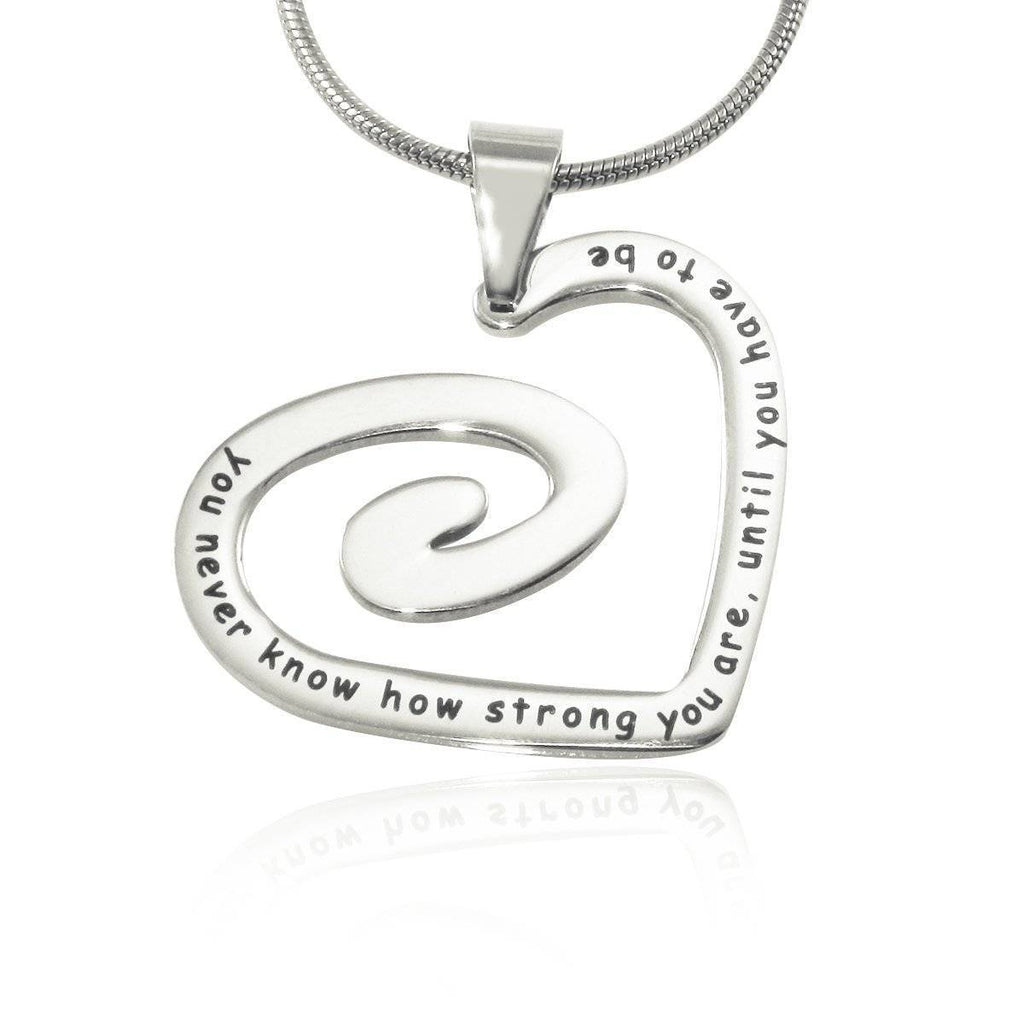 Swirls of My Heart Necklace-Silver- BELLE FEVER Personalised Jewellery