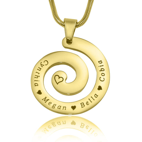Swirls of Time Necklace-Gold- BELLE FEVER Personalised Jewellery