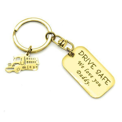 Traveling Keyring-Gold- BELLE FEVER Personalised Jewellery
