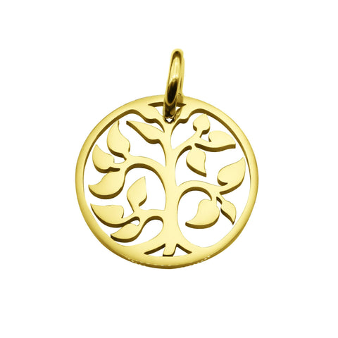Tree Charm for Keyrings-Gold- BELLE FEVER Personalised Jewellery