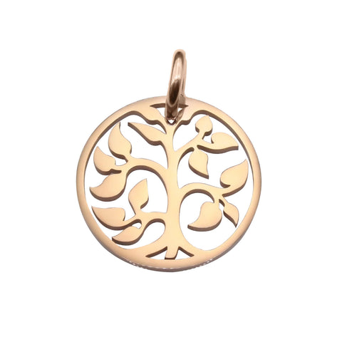 Tree Charm for Keyrings-Rose Gold- BELLE FEVER Personalised Jewellery