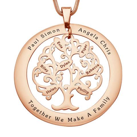 Tree of My Life Washer Necklace-7-Rose Gold- BELLE FEVER Personalised Jewellery