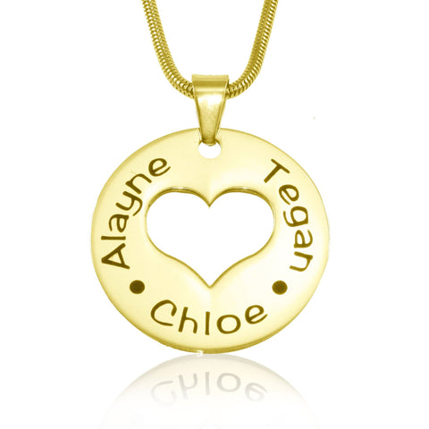 Triple Love Necklace-Gold- BELLE FEVER Personalised Jewellery