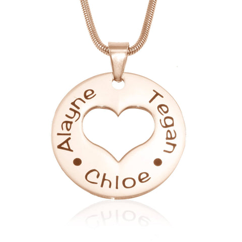 Triple Love Necklace-Rose Gold- BELLE FEVER Personalised Jewellery