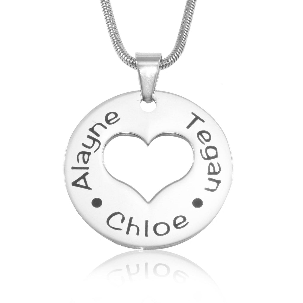 Triple Love Necklace-Silver- BELLE FEVER Personalised Jewellery