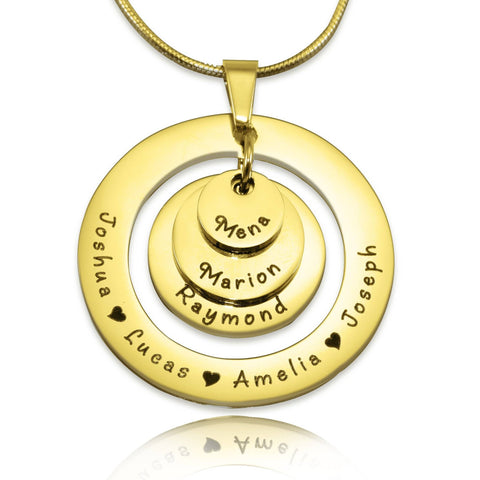 Ultimate Love Necklace-Gold- BELLE FEVER Personalised Jewellery