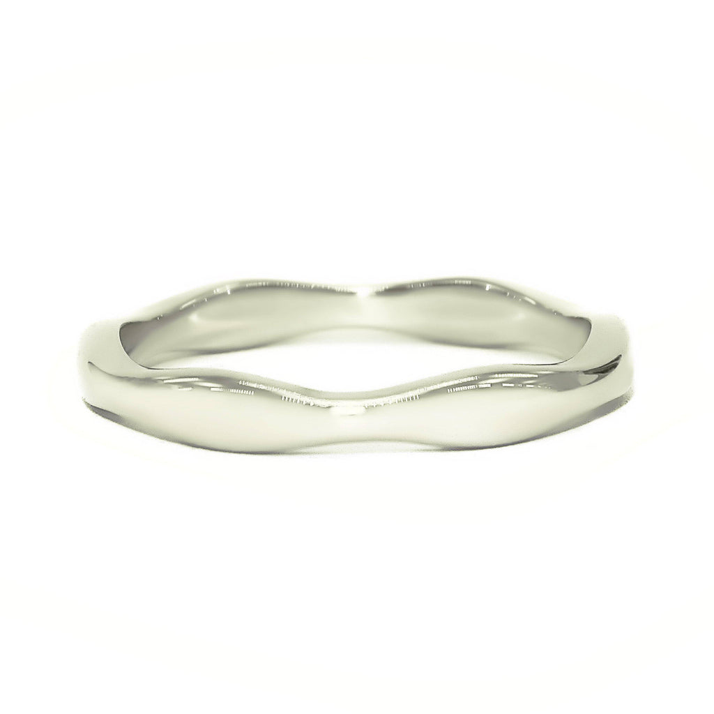 Wave Band Ring in Luxury Gift Box-P½ (AU/UK) or 8 (US)- BELLE FEVER Personalised Jewellery