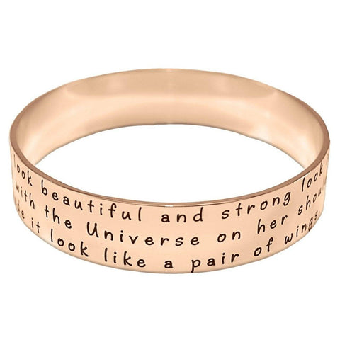 Wide Endless Bangle-Rose Gold-Diameter 6.5 cm / Length 20.4 cm (STANDARD)- BELLE FEVER Personalised Jewellery